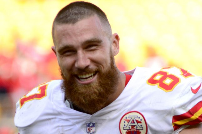 Kansas City Chiefs tight end Travis Kelce had career-highs in catches (103), yards (1,336) and touchdowns (10) in 16 starts last season. File Photo by Archie Carpenter/UPI