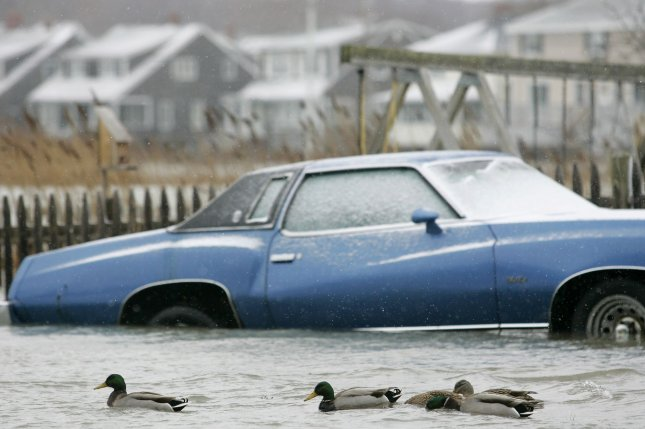 The amount of land threatened by extreme coastal floods could double by the end of the century, according to a new study. Photo by UPI/Matthew Healey