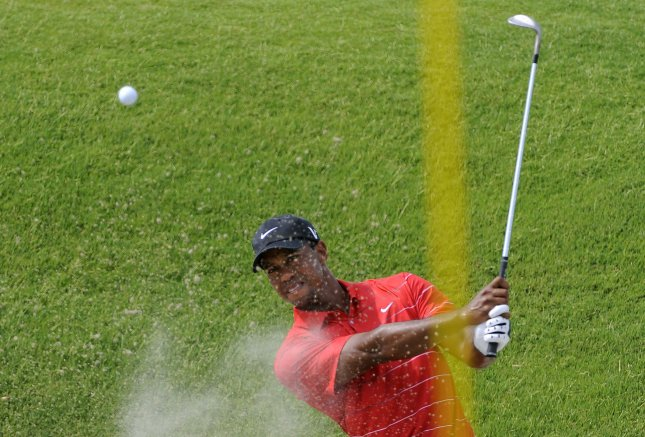 Tiger Woods, shown at the PGA Championship earlier this month, is No. 3 in the world golf rankings but has the lead in the FedEx Cup standings as the PGA Tour's playoffs begin this week. UPI/David Tulis