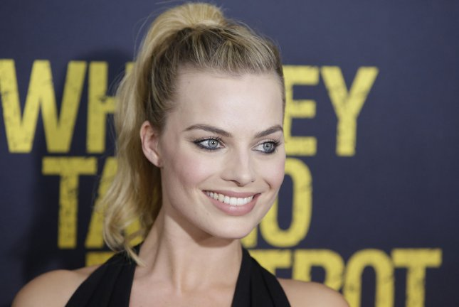 Margot Robbie arrives on the red carpet at the Whiskey Tango Foxtrot world premiere on March 1. Robbie stars as Harley Quinn in Suicide Squad. File Photo by John Angelillo/UPI