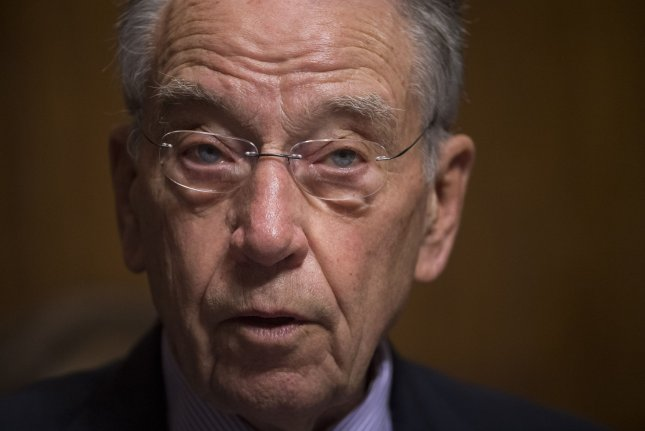 Senate Judiciary Committee Chairman Sen. Chuck Grassley, R-Iowa, canceled a hearing scheduled for Thursday on judicial nominees. File Photo by Kevin Dietsch/UPI