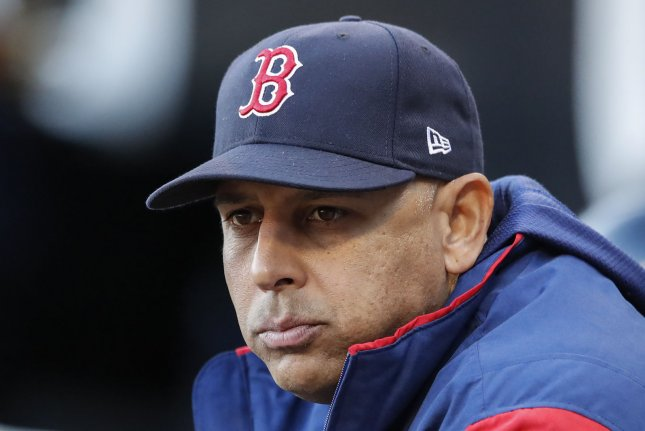 Boston Red Sox manager Alex Cora is 55-46 in his second season. File Photo by Kamil Krzaczynski/UPI