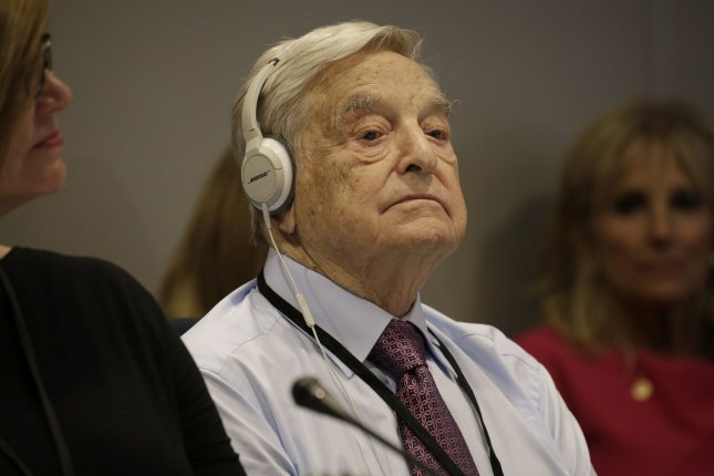 Hungarian-American business investor George Soros attends a roundtable during the United Nations' 71st session of the General Debate at U.N. headquarters in New York City on September 20, 2016. He turns 90 on August 12. File Photo by Peter Foley/UPI