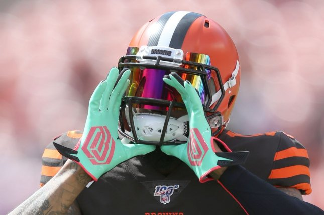 Cleveland Browns wide receiver Odell Beckham Jr. is the No. 3 option in my top-100 wide receiver rankings for the 2020 fantasy football season. File Photo by Aaron Josefczyk/UPI