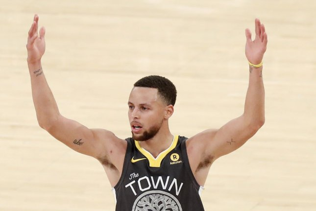 Golden State Warriors guard Stephen Curry scored 49 points Monday in Philadelphia and leads the NBA with 31.4 points per game this season. File Photo by John Angelillo/UPI