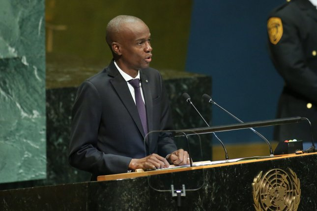 Jovenel Moise, assassinated president of Haiti, speaks at the United Nations on September 27, 2018. Ariel Henry, who Moise named as prime minister before his death, will take the position after acting Prime Minister Claude Joseph agreed to step down. File Photo by Monika Graff/UPI