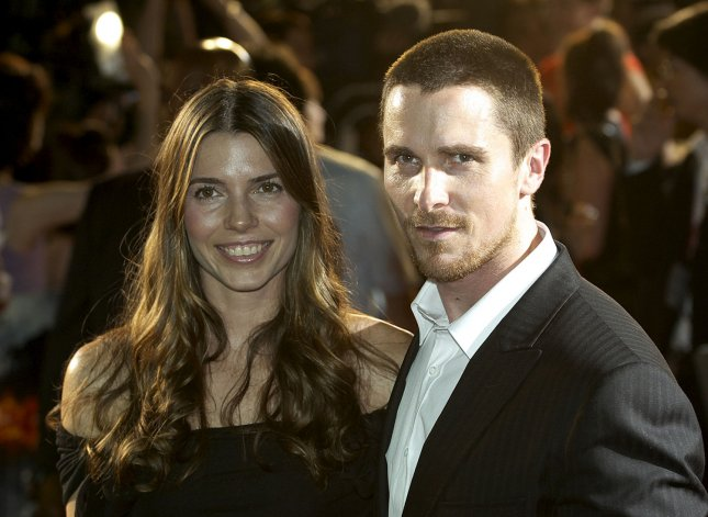 Actor Christian Bale (R) and his wife Sibi Blasic attend the premiere of the film The Dark Knight in Tokyo, Japan, on July 28, 2008. (UPI Photo/Keizo Mori)