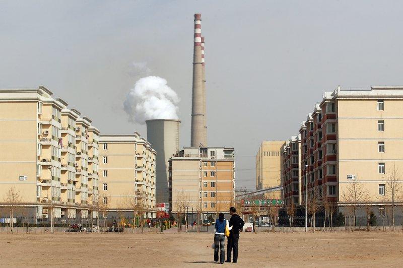 A massive power plant on the outskirts of Beijing, China. (UPI Photo/Stephen Shaver)