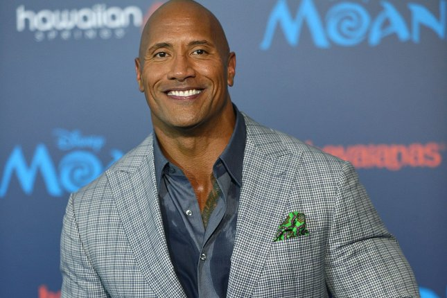 Dwayne Johnson arrives at the world premiere of Moana in Los Angeles on November 14. Johnson shared this week a video of him singing Happy Birthday to his 1-year-old daughter Jasmine. File Photo by Christine Chew/UPI