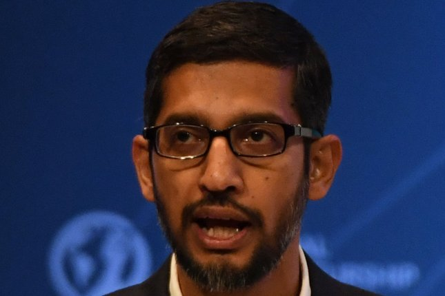 Google CEO Sundar Pichai recalled members of his staff to the United States following Donald Trump's executive order banning travel into the country from countries including Syria, Iraq, Iran, Sudan, Somalia, Yemen and Libya. Pichai criticized the order in a message to his employees and said it could affect more than 100 staff members as well as the ability to bring in international talent in the future. Photo by Terry Schmitt/UPI