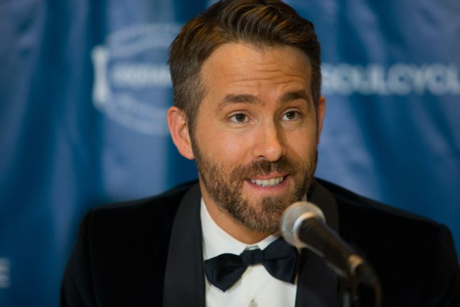 Deadpool actor Ryan Reynolds answers questions from reporters after being awarded the Harvard University Hasty Pudding Theatricals 2017 Man of the Year inside Farkas Hall in Cambridge, Massachusetts on February 3. File Photo by Matthew Healey/ UPI