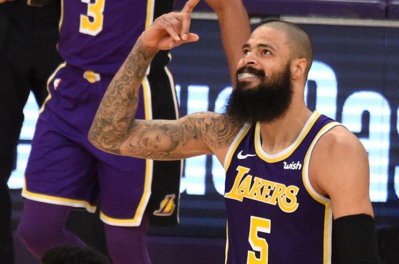 Los Angeles Lakers center Tyson Chandler. Photo by Jon SooHoo/UPI