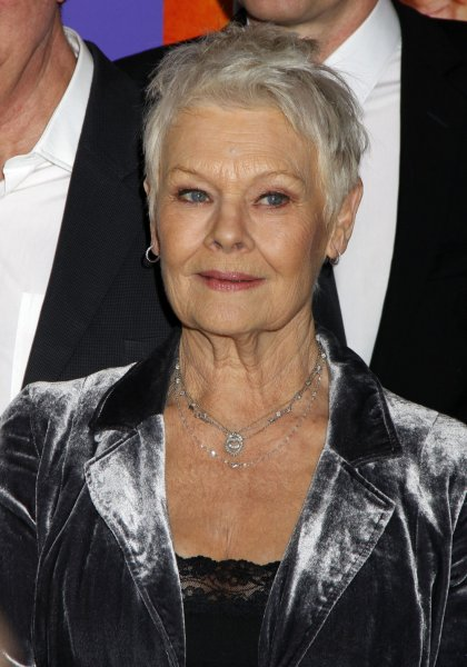 Judi Dench arrives for the Best Exotic Marigold Hotel premiere at the Ziegfeld Theatre in New York on April 23, 2012. UPI /Laura Cavanaugh