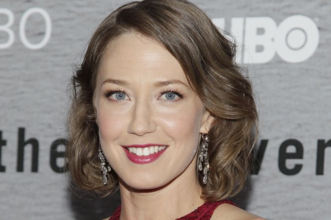 Carrie Coon arrives on the red carpet at the premiere of HBO's The Leftovers at NYU Skirball Center in New York City on June 23, 2014. File Photo by John Angelillo/UPI