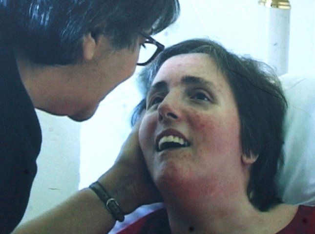 Terri Schiavo is shown with her mother Mary Schindler in a 2001 photograph. On March 31, 2005, Terri Schiavo, a 41-year-old Florida woman in a persistent vegetative state since 1990, died 14 days after removal of her feeding tube amid a legal struggle over her fate that reached the White House and Supreme Court. UPI File Photo