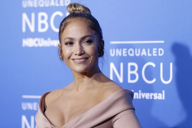 Jennifer Lopez arrives on the red carpet at the 2017 NBCUniversal Upfront on May 15 in New York City. Lopez donated $1 million to aid hurricane victims Sunday. File Photo by John Angelillo/UPI