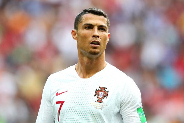 Cristiano Ronaldo of Portugal looks on during the 2018 FIFA World Cup Group  B match on June 20 at the Luzhniki Stadium in Moscow. 7e529b40f