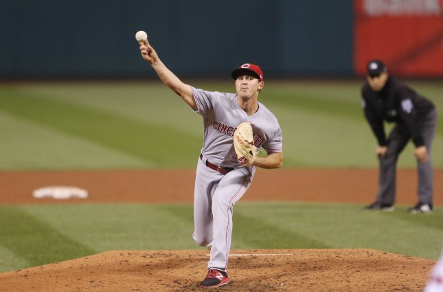 Tyler Mahle and the Cincinnati Reds face the San Diego Padres on Sunday. Photo by Bill Greenblatt/UPI