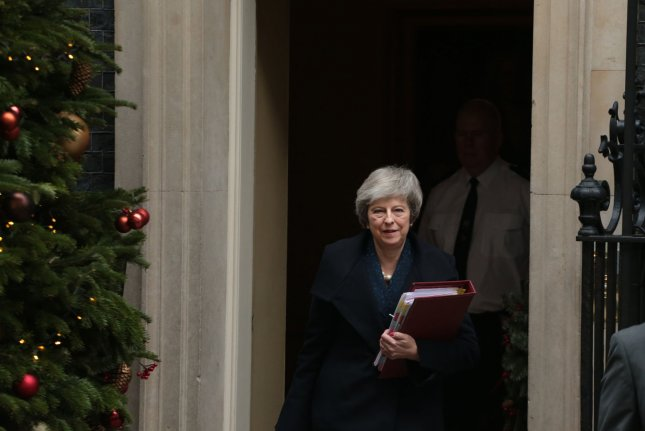 British Prime Minister Theresa May announced Thursday she will leave office before Britain's 2022 election. Photo by Hugo Philpott/UPI