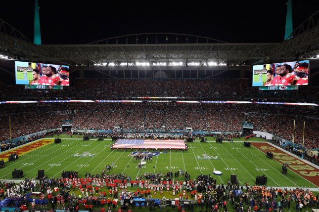 Lift Ev'ry Voice And Sing, traditionally known as the black national anthem, will be played before The Star-Spangled Banner in Week 1 NFL games. File Photo by Tasos Katopodis/UPI