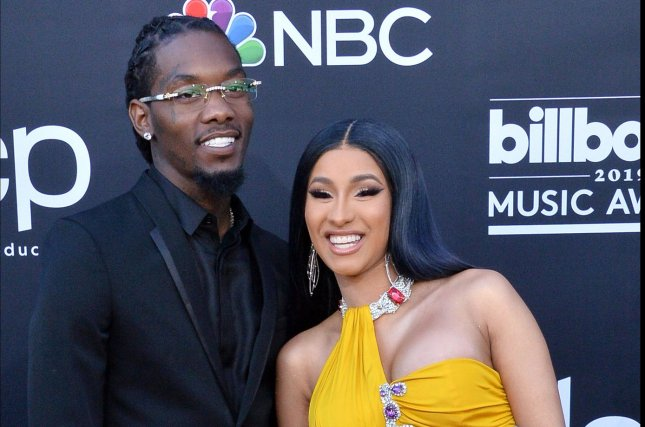 Cardi B (R) filed for divorce from Offset amid new rumors the Migos rapper cheated. File Photo by Jim Ruymen/UPI