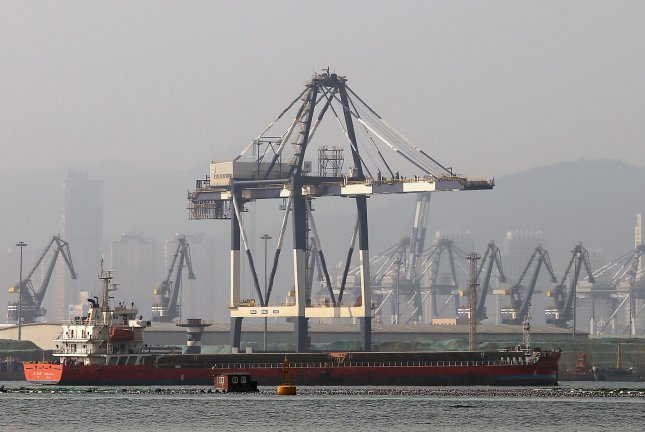 China's imports and exports are up year-on-year amid the coronavirus pandemic, official data released Tuesday show. File Photo by Stephen Shaver/UPI