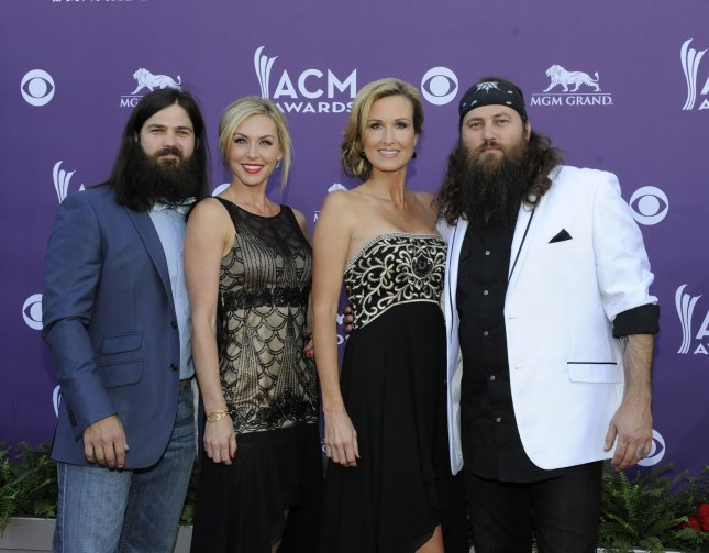 TV personalities Jep Robertson, Jessica Robertson, Korie Robertson and Willie Robertson arrive at the 48th annual Academy of Country Music Awards at the MGM Hotel in Las Vegas, Nevada on April 7, 2013. UPI/David Becker