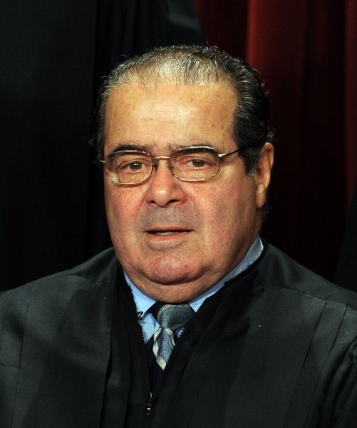 Associate Justice Antonin Scalia, who dissented from the court's ruling. UPI/Roger L. Wollenberg