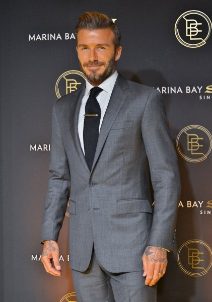 David Beckham attends the party of Marina Bay Sands on September 29 in Tokyo, Japan. Beckham has shared on social media video of his daughter Harper playing soccer. File Photo by Keizo Mori/UPI