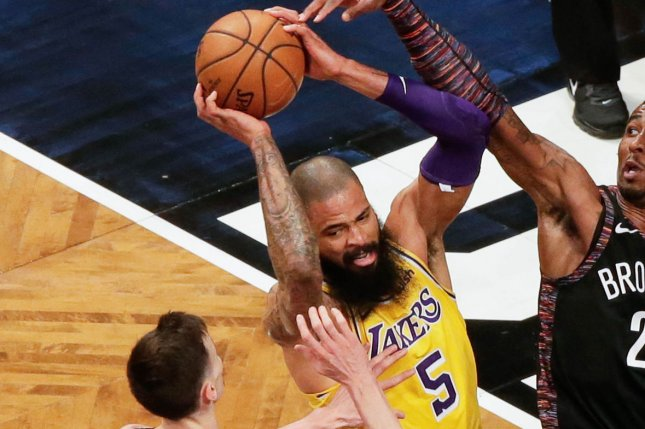 Tyson Chandler and the Los Angeles Lakers take on the Los Angeles Clippers on Friday. Photo by John Angelillo/UPI