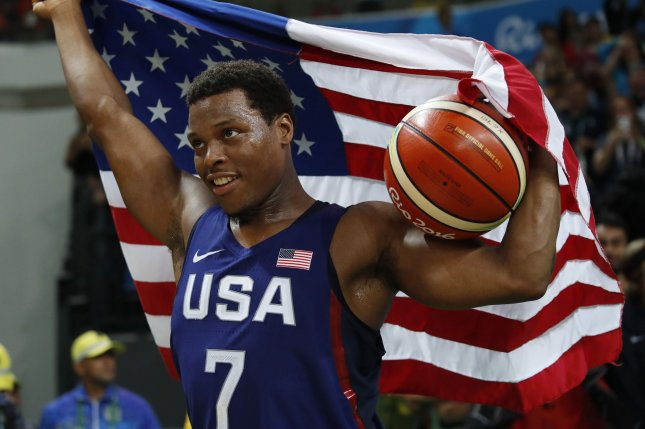 Team USA point guard Kyle Lowry pulled out of the 2019 FIBA World Cup due to a thumb injury. File Photo by Matthew Healey/UPI