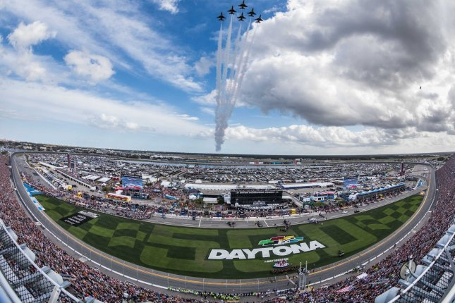 The move to ban Confederate flags from racetracks across the country came two days after driver Bubba Wallace called for the organization to prohibit the flags. File Photo by Edwin Locke/UPI