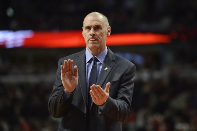 The exit of Dallas Mavericks head coach Rick Carlisle, shown Dec. 2, 2014, comes after the departure of longtime president of basketball operations Donnie Nelson. File Photo by Brian Kersey/UPI