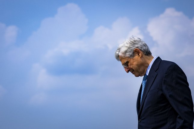 U.S. Attorney General Merrick Garland on Thursday threatened legal action against Texas Gov. Greg Abbott over an order requiring state troopers to pull over drivers transporting migrants who may carry COVID-19.Pool Photo by Samuel Corum/UPI