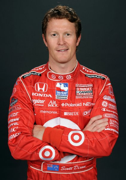 Scott Dixon of New Zealand, shown at Homestead-Miami Speedway in Florida Feb. 24, 2009.(UPI Photo/Michael Bush)