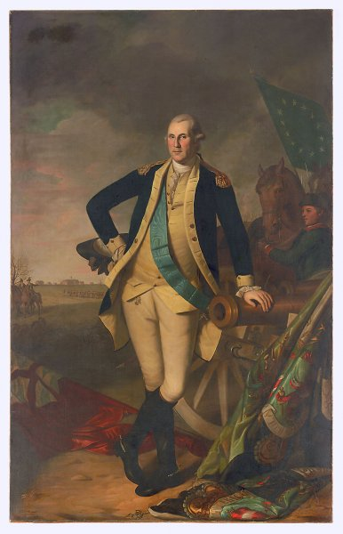 This portrait titled George Washington at Princeton by Charles Willson Peale in 1779 was sold at Christie's in New York Jan. 21, 2006, for $21.2 million. (UPI Photo/)