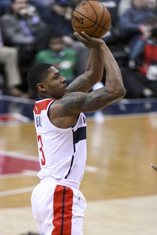 Bradley Beal and the Washington Wizards held off the Atlanta Hawks on Saturday. Photo by Mark Goldman/UPI