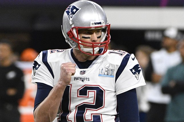 Tom Brady and the New England Patriots play the Philadelphia Eagles at Super Bowl LII on Sunday. Photo by Brian Kersey/UPI