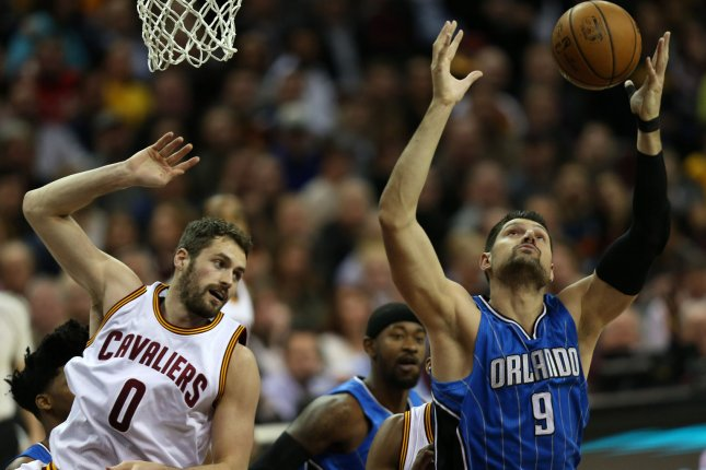 Nikola Vucevic and the Orlando Magic take on the Portland Trail Blazers on Thursday. Photo by Aaron Josefczyk/UPI