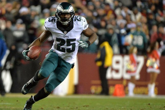 Veteran running back LeSean McCoy says he could see himself returning to the Philadelphia Eagles for possibly his final season in 2020. File Photo by Kevin Dietsch/UPI