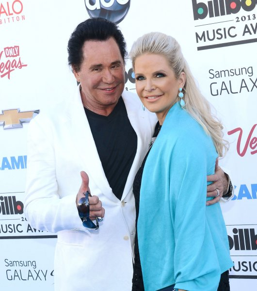 Singer Wayne Newton and Kathleen McCrone arrive at the 2013 Billboard Music Awards held at the MGM Hotel in Las Vegas, Nevada on May 19, 2013. UPI/Jim Ruymen