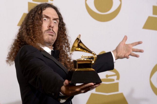 Singer Weird Al' Yankovic, winner of Best Comedy Album for Mandatory Fun poses backstage during the 57th Grammy Awards on February 8, 2015. Yankovic has revealed that one artist that always turned down ideas for a parody song was Prince. File Photo by Phil McCarten/UPI
