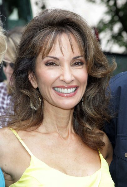 Susan Lucci of All My Children arrives for the Feed the Children/Daytime Gives Back project at the Northside Community Center in New York on August 6, 2009. UPI Photo/Laura Cavanaugh
