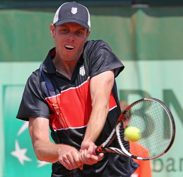 Sam Querrey, shown at the 2012 French Open, was a first-round winner Monday as the Moselle Open tennis tournament began in northeastern France. UPI/David Silpa