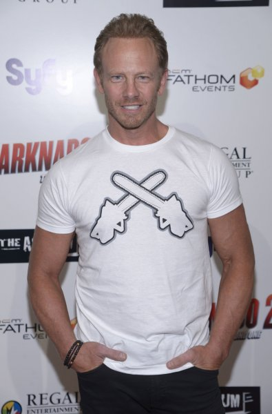Cast member Ian Ziering attends a screening of Sharknado 2: The Second One in Los Angeles on August 21, 2014. Ziering is filming a fifth Sharknado movie now. File Photo by Phil McCarten/UPI