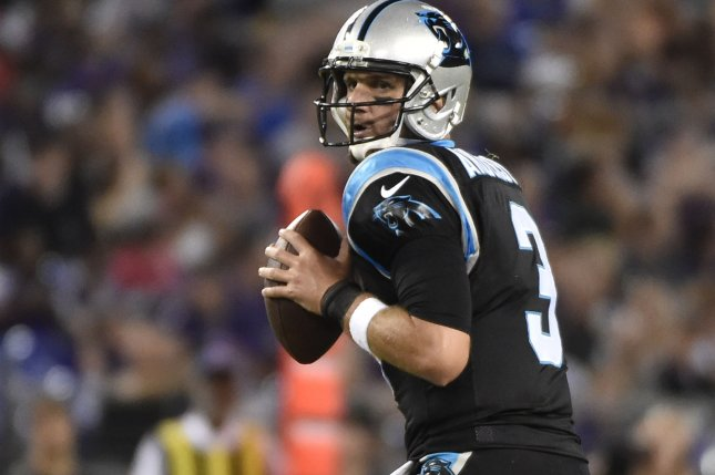 Former Carolina Panthers quarterback Derek Anderson will start Sunday's game for the Buffalo Bills in place of an injured Josh Allen. File photo by David Tulis/UPI