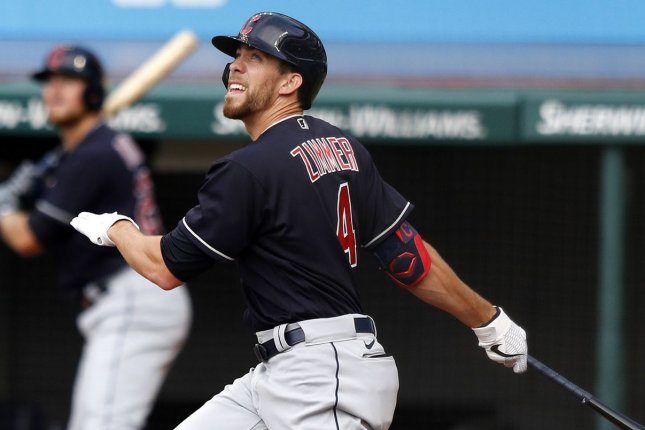 Indians' Bradley Zimmer hits home run off pitcher brother