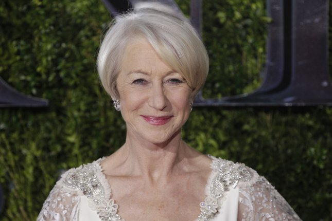 Helen Mirren arrives on the red carpet at the 69th Annual Tony Awards on June 7, 2015 in New York City. The evening will feature appearances by Jennifer Lopez, Sting, Jim Parsons, Amanda Seyfried, Kiefer Sutherland, Bryan Cranston, Sutton Foster, Jennifer Nettles, Taye Diggs and Ashley Tisdale. Photo by John Angelillo/UPI