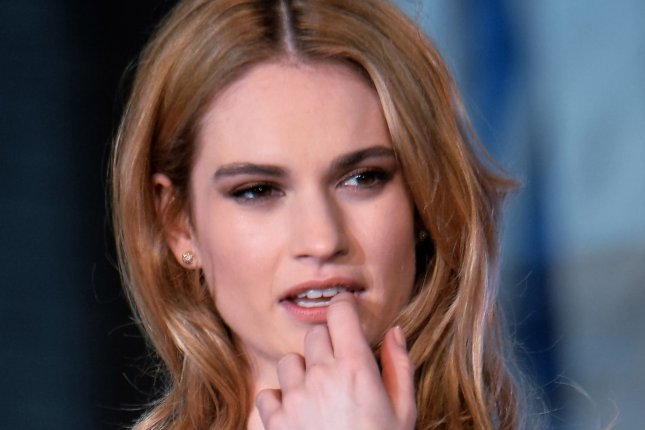 Actress Lily James attends the premiere for the film Cinderella in Tokyo, Japan, on April 8, 2015. Photo by Keizo Mori/UPI