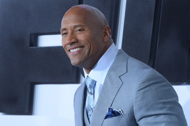 Dwayne Johnson attending the premiere of Furious 7 on April 1, 2015. Johnson has updated fans on his previous Fast 8 rant proclaming that conflict can be a good thing. File Photo by Jim Ruymen/UPI